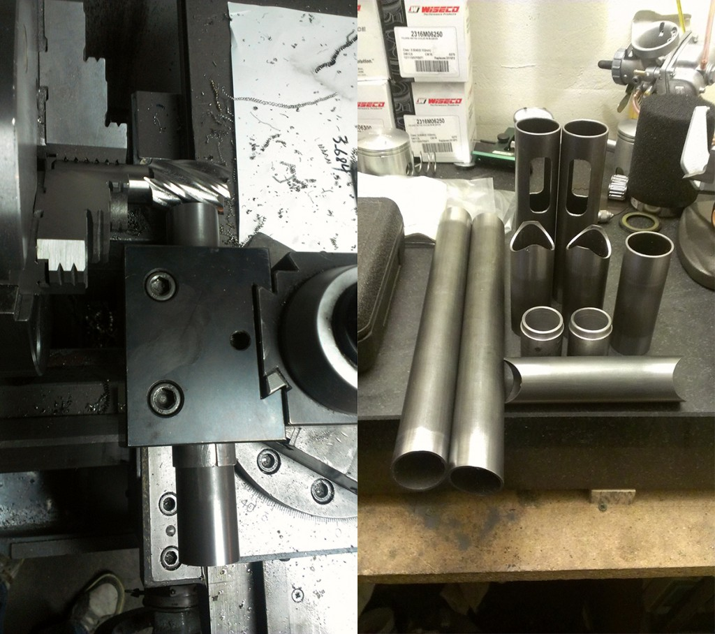 tube coping and swing arm parts