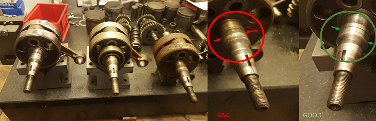 Rebuild of a single cylinder press-pin crankshaft – How I do